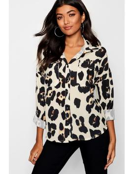 Leopard Print Pocket Shirt by Boohoo