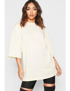 Oversized Cotton T Shirt by Boohoo
