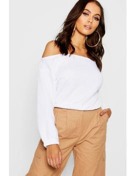 slouchy-off-the-shoulder-crop-sweat by boohoo