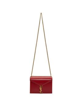 Red Cassandra Monogramme Chain Bag by Saint Laurent