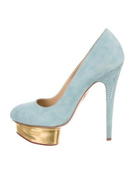 Charlotte Olympia Dolly Embellished Suede Pumps by Charlotte Olympia