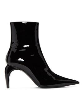 Black Vinyl Ankle Boots by Misbhv