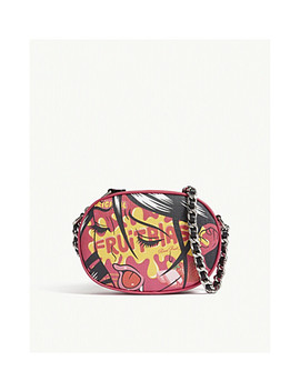 Fruitblast Leather Cross Body Bag by Moschino