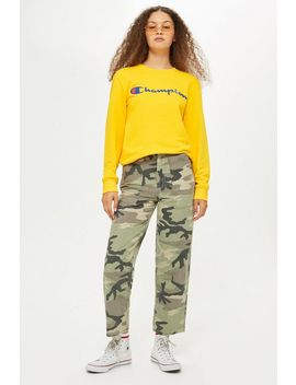 Camouflage Utility Trousers by Topshop