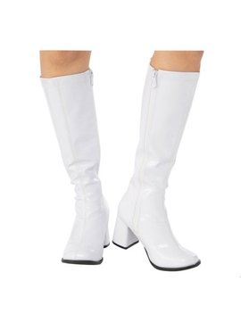 Adult Go Go Boot White Halloween Costume Accessory by Unbranded