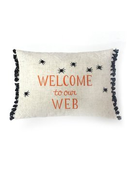 Celebrate Halloween Together ''welcome To Our Web'' Glowing Oblong Throw Pillow by Kohl's