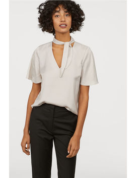 Tie Top Blouse by H&M