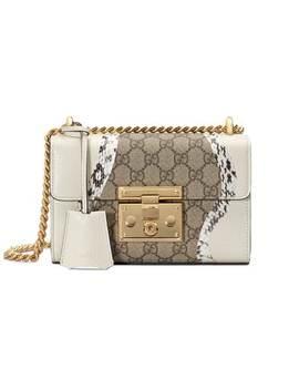 Padlock Snakeskin Small Shoulder Bag by Gucci