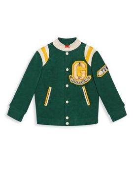 Boy's Logo Patch Bomber Jacket by Gucci