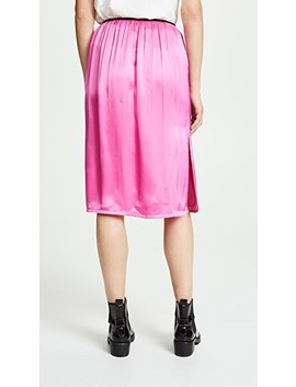 Pull On Satin Skirt by Helmut Lang