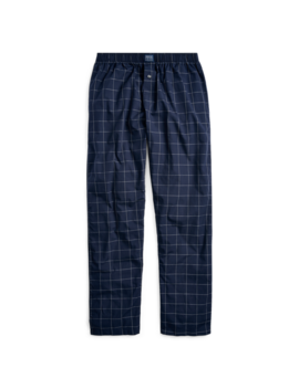 Windowpane Cotton Pajama Pant by Ralph Lauren