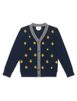 Little Boy's & Boy's Bees & Stars Wool Cardigan by Gucci