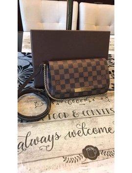 Favorite Pm. Borwn Leather Cross Body Bag by Louis Vuitton