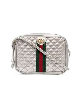 Leather Mini Quilted Bag With Webbing by Gucci