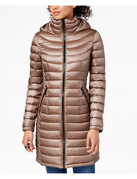 Petite Hooded Packable Down Puffer Coat by Calvin Klein