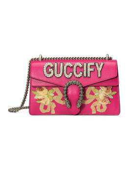 Pink Guccify Dionysus Small Shoulder Bag by Gucci