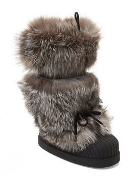 Real Fox Fur Moon Boots by Moncler