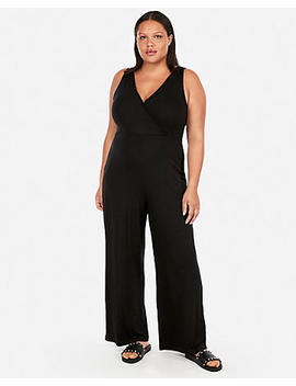 Ribbed Surplice Fitted Jumpsuit by Express