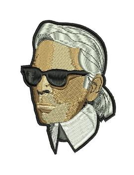 8 28cm!!! Karl Lagerfeld Fanart Inspired Patch , Iron On by Etsy
