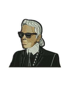 8 21.5cm! Karl Lagerfeld Fanart Inspired Patch , Iron On by Etsy