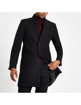 Only & Sons Black Wool Trench Coat by River Island