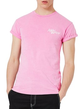 Muscle Fit Embroidered New Wave T Shirt by Topman