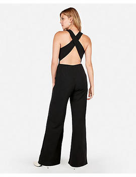 Cross Back Wide Leg Jumpsuit by Express