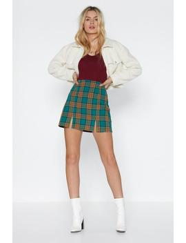 Plaid Blood Mini Skirt by Nasty Gal