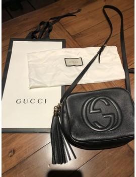 Soho Soho Disco Disco Small Black Leather Cross Body Bag by Gucci