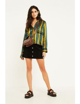 Uo Jonie Black Suede Mini Skirt by Urban Outfitters