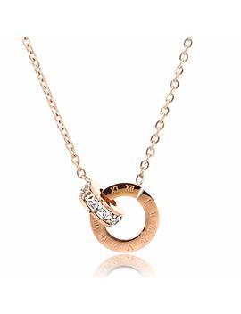 Fire Ants Love Necklaces   Women's Lucky Fashion Eternal Double Ring Necklace by Fire Ants