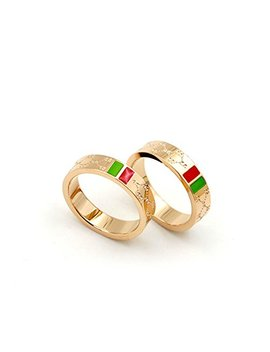 Luxury Shine Celebrity Ring Classic Red And Green Bar Tisco Ring by X Lee