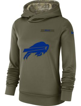 Nike Women's Salute To Service Buffalo Bills Therma Fit Performance Hoodie by Nike
