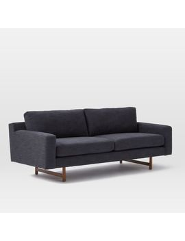 "Eddy 82"" Sofa, Yarn Dyed Linen Weave, Indigo by West Elm"