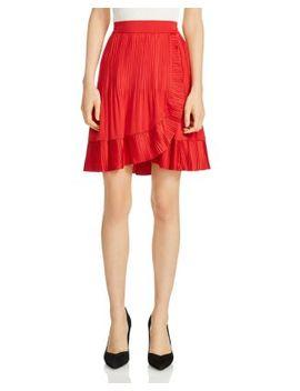 Jonetta Ruffle Trim Skirt by Maje