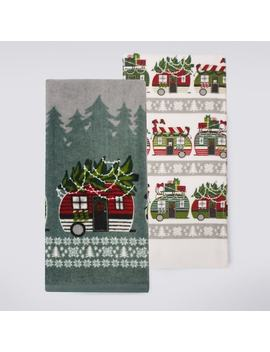 St. Nicholas Square® Christmas Camper Kitchen Towel 2 Pack by St. Nicholas Square