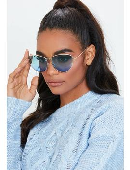 Blue Ombre Sunglasses by Missguided