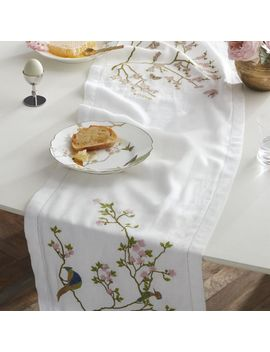 "Belsize Park Linen Table Runner 90"" by Crate&Barrel"