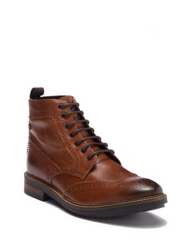 Hopkins Leather Wingtip Boot by Base London