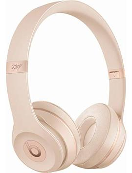 Beats Solo 3 Wireless On Ear Headphones   Matte Gold (Certified Refurbished) by Beats