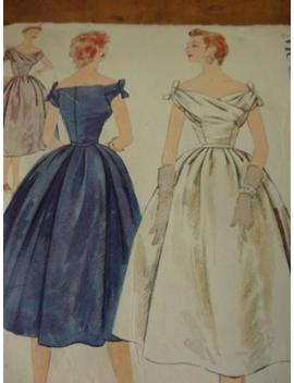 "Vtg 1954 Mc Calls Miss Pattern Evenin<Wbr>G/Prom Style Dress Gown#989<Wbr>8 Sz 12 Bust 30"" by Ebay Seller"