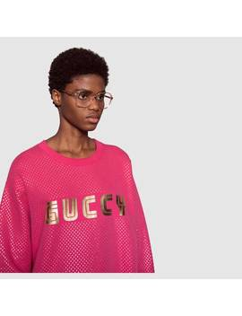 Oversize Sweatshirt With Guccy Print by Gucci