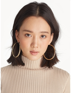 Oversize Hoop Earrings   Gold by Pomelo