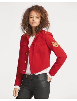 Twill Cropped Military Jacket by Ralph Lauren