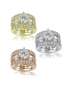Icz Stonez 3ct Tgw Cubic Zirconia Bridal Engagement Ring Set by Icz Stonez