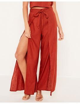 linen-blend-split-pants by glassons