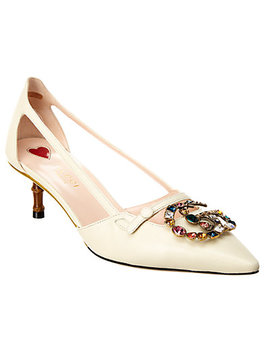 Gucci Bamboo & Leather Pump by Gucci