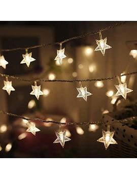 Twinkle Star 100 Led 49 Ft Star String Lights, Plug In Fairy String Lights Waterproof, Extendable For Indoor, Outdoor, Wedding Party, Christmas Tree, New Year, Garden Decoration, Warm White by Twinkle Star
