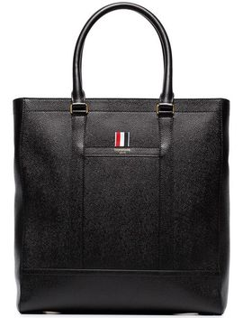 Leather Tote Bag by Thom Browne