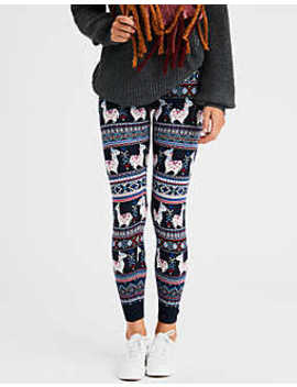 Aeo Llama Fair Isle Sweater Legging by American Eagle Outfitters